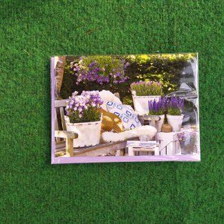 Grußkarte Gartenbank