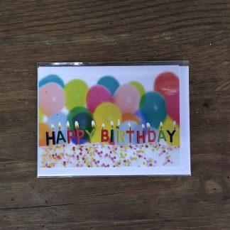 Grußkarte Luftballoons
