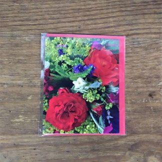 Grußkarte Rote Rosen