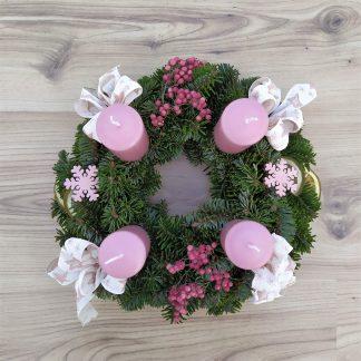 Adventkranz rosa